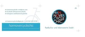 hannovercyclechic visitenkarte einzeln auf DIN A4