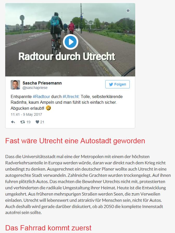 34 hannovercyclechic in Utrecht - Sascha Priesemann über den Besuch