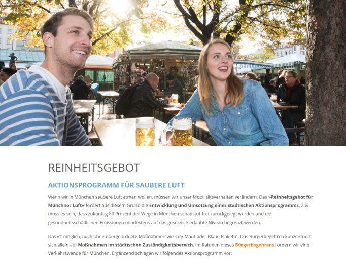 PlatzDa! ist hannovercyclechic-Blog Sauba sog i. Reinheitsgebot für Müncher Luft Biergarten