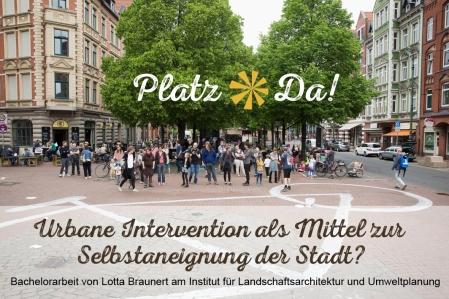 PlatzDa! am 21 05 2016 auf dem Lindener Markt Bachelorarebeit Lotta Braunert